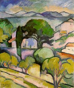 Georges Braque - Paysage de Provence, l'Estaque, 1907.
