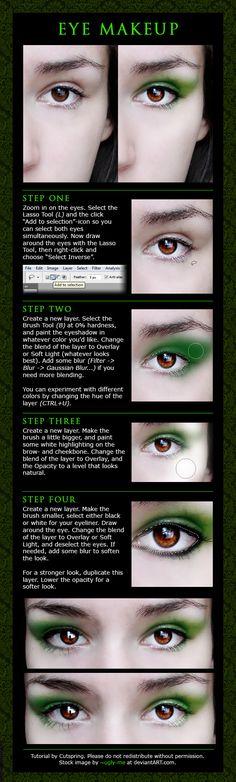 photoshop eye makeup tutorial