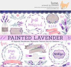 Bird clipart painted watercolor birds by franceillustration lune get 3 for 2 lavender clipart watercolor by franceillustration fandeluxe Images