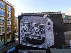 Street art Phlegm in East London