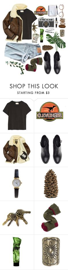 """""""Jurassic"""" by tia-b56 ❤ liked on Polyvore featuring H&M, Limit, Crate and Barrel, Barbour, BOBBY, Aesop and Vanessa Mooney"""
