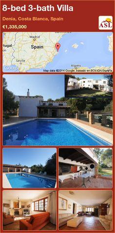 8-bed 3-bath Villa in Denia, Costa Blanca, Spain ►€1,335,000 #PropertyForSaleInSpain