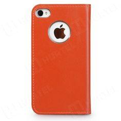 Wycofywane z oferty   Elegancka skórzana kabura na iPhone 4S 4 GGMM Kiss pomarańczowa   EKLIK - Sklep GSM, Akcesoria na tablet i telefon