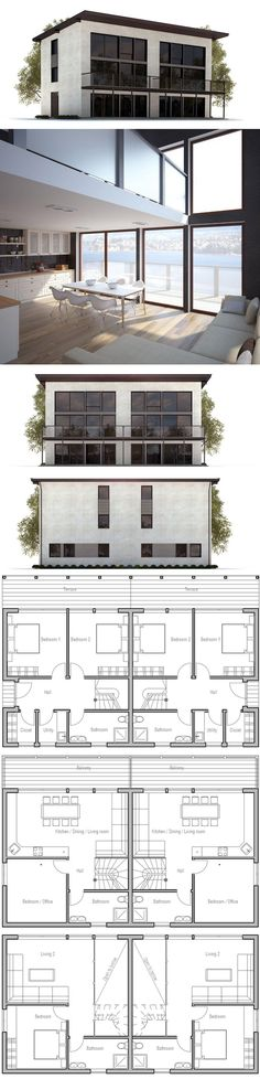Duplex House Plan CH99D from ConceptHome.com