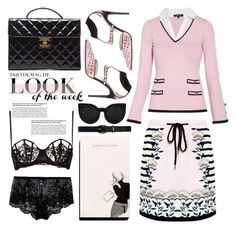 """""""look of the week"""" by emcf3548 ❤ liked on Polyvore featuring Lauren Ralph Lauren, Morgan, Sergio Rossi, Markus Lupfer, Garance Doré, Chanel, Cosabella, La Perla and Delalle"""