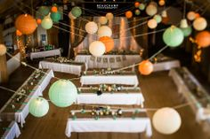 Beautiful vintage wedding decorations - a DIY wedding! Colours: green, peach and white.  See more images by Beauchamp Photography, from this wedding at: http://beauchampphotography.ca/weddings/melissa-ryan/