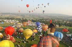 Hot Air Balloons Cameron Balloons over Bristol, UK, The Sky above Bristol is a sea of colour during the annual ballooning festival held every August