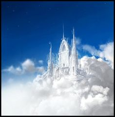 """Places in Valinor: The Halls of Ilmarin - The mansions of the Elder King, Manwë, and his spouse Varda Elentári, on the summit of Taniquetil, the highest peak of the world, from where they could look out across the Earth even into the East."""" Manwë here set his throne, and in the shape of hawks and eagles constantly came with news of events in Arda."""