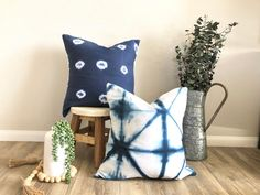 Excited to share this item from my shop: Indigo Blue and white x or shibori pillow cover, tie dye indigo blue pillow cover, modern farmhouse decor, modern farmhouse indigo Blue Pillow Covers, Blue Pillows, Throw Pillows, Entryway Decor, Wall Decor, Indigo Dye, Modern Farmhouse Decor, Shibori, Etsy Store