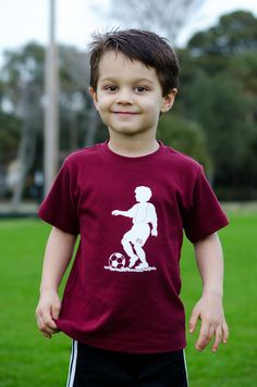 Sporty Soccer Player Short Sleeved Nostalgic Graphic Tee, $20.00