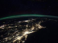 East Cost. east coast, space station, northern lights, aurora borealis, lakes, intern space, aerial photography, earth, new york city