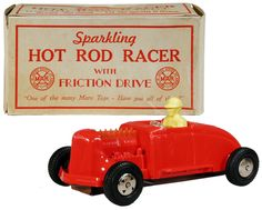 1953 Marx, Sparkling Hot Rod Racer, Red (Factory Sample)
