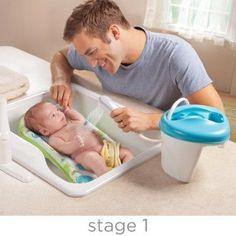 Summer Infant Newborn to Toddler Bath Center and Shower, Blue