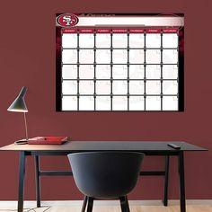 Fathead San Francisco 49ers Dry Erase Calendar   Wall Sticker Outlet