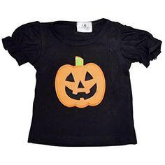 Unique Baby Girls Halloween Pumpkin Shirt