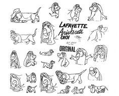 Living Lines Library: The AristoCats (1970) - Model Sheets & Production Drawings