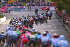 The peloton snakes its way through Madrid during the final Vuelta stage