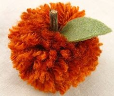 Make Pom Pom Pumpkins
