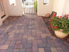 Courtyard entryway concrete pavers sun lakes arizona