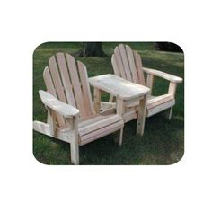 Woodcraft - Woodworking Project Paper Plan to Build Twin Adjustable Adirondack Chair Woodworking Plans: Clocks, Furniture, Workbench Plans Woodworking Furniture Plans, Woodworking Logo, Woodworking Supplies, Popular Woodworking, Woodworking Projects, Wood Projects, Woodworking Classes, Woodworking Magazine, Rockler Woodworking