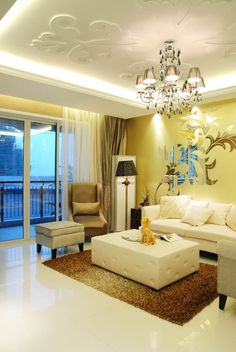 The living room is the family leisure, family and friends get together place, home entertainment and public means primarily watching TV, VCD, sing karaoke OK, so the living room TV backdrop become the most catches the eye place