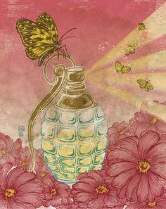 art, Make Beauty Not War by Yuko Shimizu