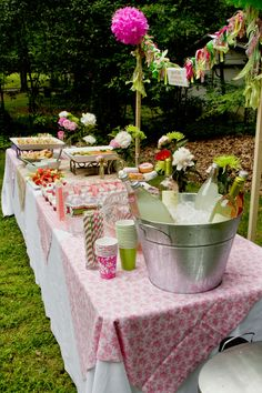 brunch baby shower-- our finished product ;o)