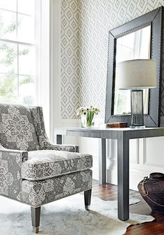 fabric and wallpaper from thibaut's caravan collection