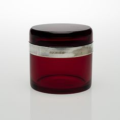 Glass and Silver Box by Nuutajärvi Notsjö, Glass Design, Design Art, Red Glass, Glass Art, Vintage Designs, Retro Vintage, Glass Boxes, Herbal Tea, Finland