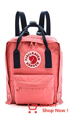 Shop for Kanken Mini Backpack by Fjallraven at ShopStyle. Mochila Kanken, Kanken Mini, Fjallraven, Mini Backpack, Black Backpack, Cute Bags, Unisex, Fashion Backpack, Purses And Bags