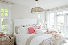 Caitlin Wilson Coral Deco Pillows | Styled by Jillian Harris