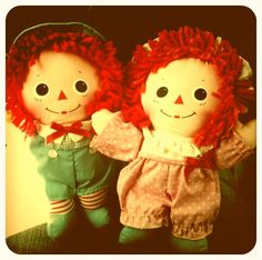 Bought these vintage Raggedy Ann & Andy Dolls for my Babies <3