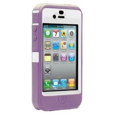 OtterBox Defender Case for iPhone 4 (White\ Purple, Fits ATT iPhone)