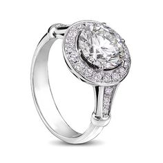 White gold classic diamond engagement ring with round diamonds Diamond Rings, Diamond Engagement Rings, Wedding Bells, Wedding Rings, Round Diamonds, Jewelry Design, White Gold, Jewels, Gallery
