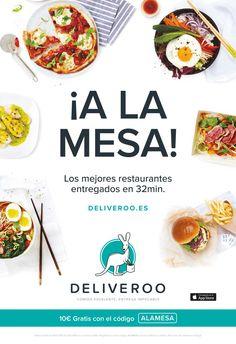 Campaña de publicidad en quioscos ubicados en varias zonas del centro de Madrid, para promocionar código descuento en pedidos de comida a domicilio con Deliveroo.