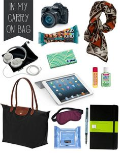 Carry-on Travel Essentials Be packed and prepped for #studyabroad