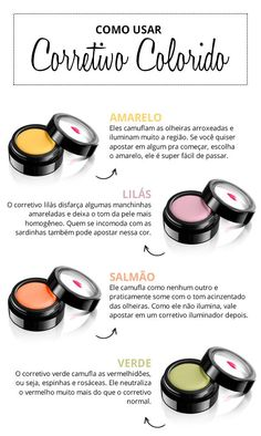 Como usar corretivo colorido Let's unravel all the mysteries of the color concealer so you won't be afraid of making mistakes anymore, huh? Sleek Make Up, Professionelles Make Up, How To Make Hair, Beauty Make-up, Make Beauty, Beauty Care, Beauty Hacks, Natural Beauty, Contour Makeup