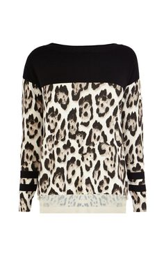 Karen Millen | This leopard print knit will look fabulous with a black leather skirt