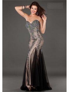 Sweetheart Beading Tulle 2013 Prom Dresses