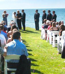 Lake Michigan Wedding at The Inn at Bay Harbor in northern Michigan.