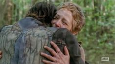 I cried like a baby when I saw Daryl run up to hug Carol. Best episode so far!!
