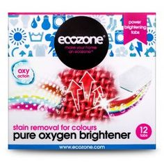 Ecozone Pure Oxygen Brightener Tablets - For Colours - Pack of 12