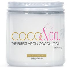 Coconut Oil for Hair and Skin By COCOandCO. Beauty Grade 100% RAW (8oz) -- Want additional info? Click on the image.