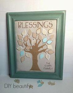 DIY Family Tree Blessings Art