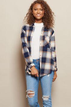 Boyfriend Plaid Flannel Shirt