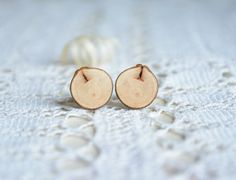 Unique rustic wooden cuff links natural wood by MyPieceOfWood