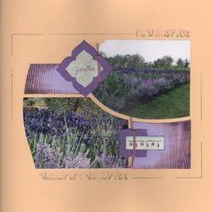 Page de Scrap - Jardin de lavandes - duo de gabarits 'Shamallow'.