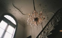 #chandelier #vintage #mansion #staircase