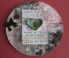 valentines card on recycled cd
