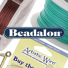 Shop #Beadalon and Artistic Wire products at www.beadaholique.com - name brand #beading and #jewelry-making wire and findings.